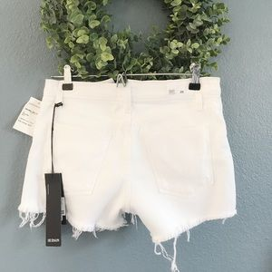 Hudson High Rise Zoeey exposed button shorts